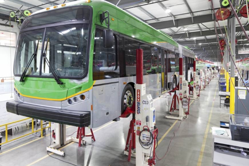 Mobile Column Lifts for bus manufacturer