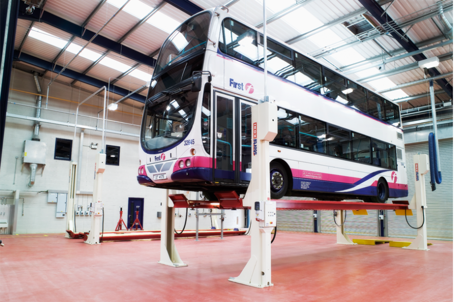 Bus & Coach Lifting Solutions for Maintenance & Service