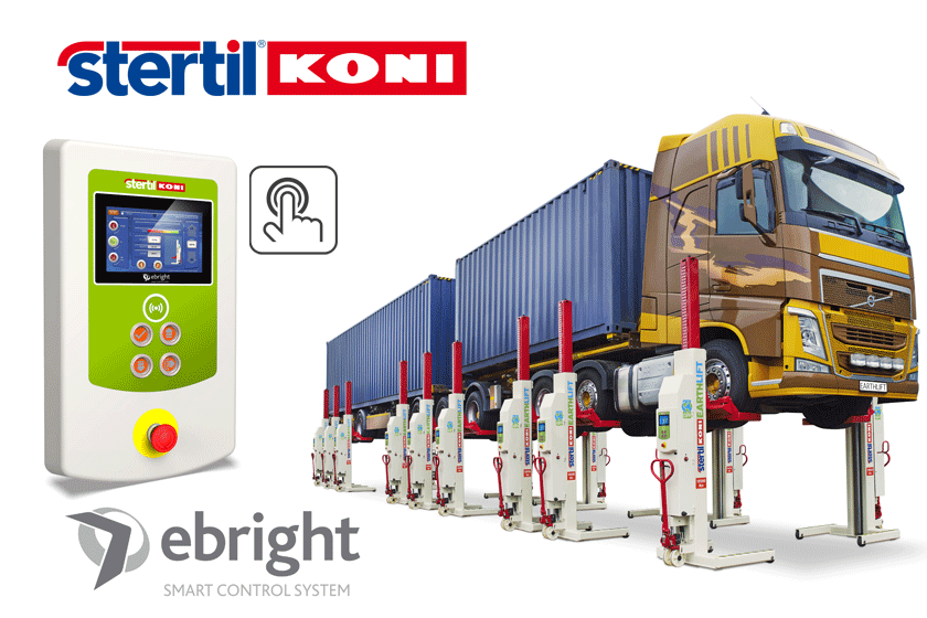 Stertil-Koni introduces the ebright Smart Control on mobile colum lifts