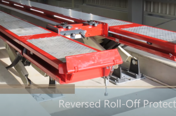 Video SKYLIFT Reverse Roll-Off Protection System. Heavy Duty vehicle lifting.
