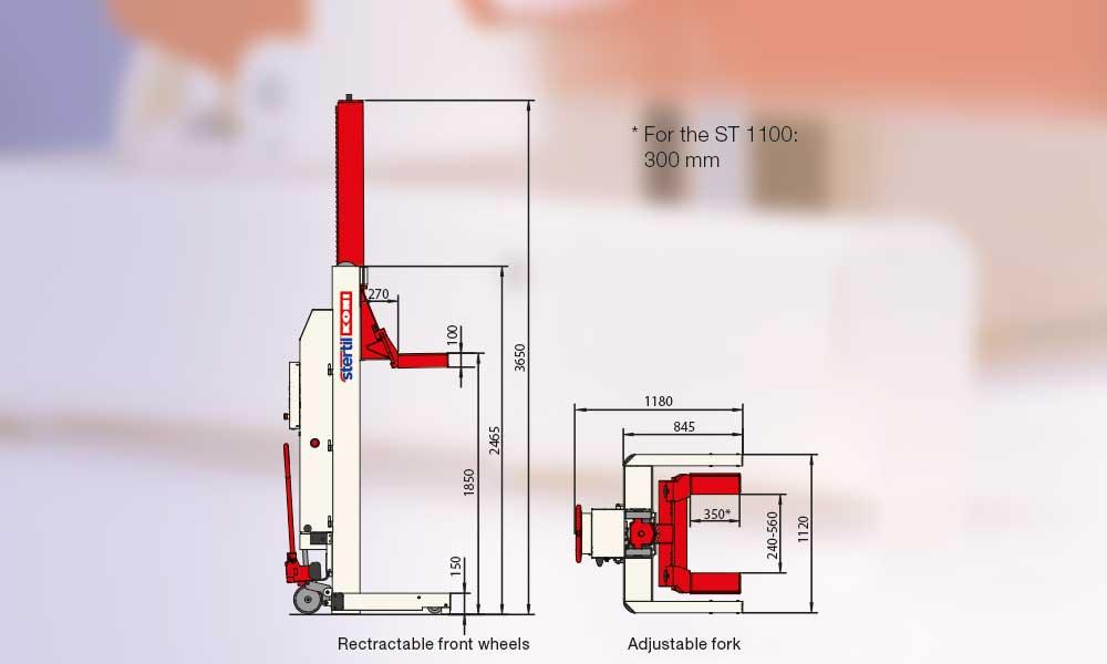 Mobile Column Vehicle Lifts Stertil Koni